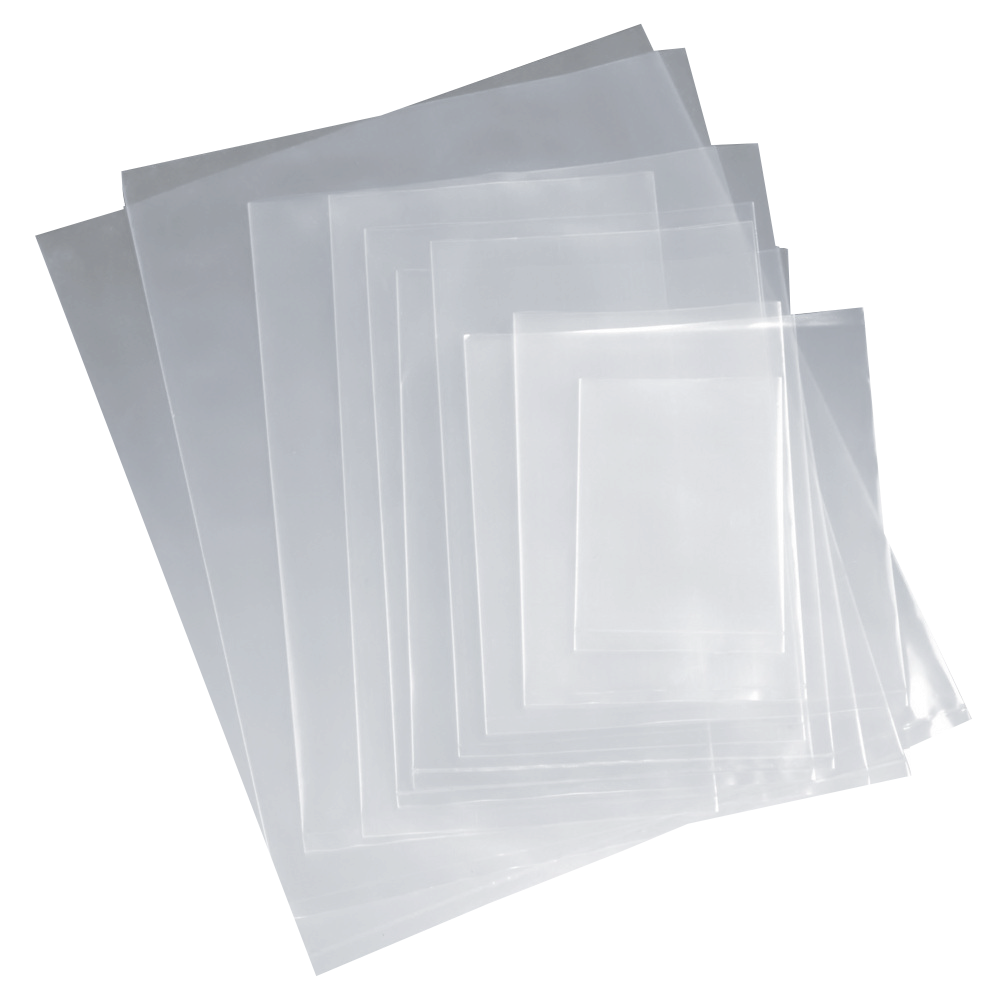 Flat clear poly bags flat clear poly bag 8 mil various for Toit en polycarbonate transparent